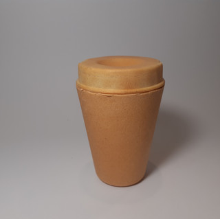 Edible biodegradable coffee lid