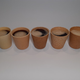 Edible biodegradable coffee cup