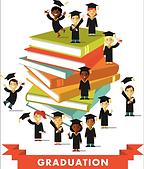 Graduating kids on books!