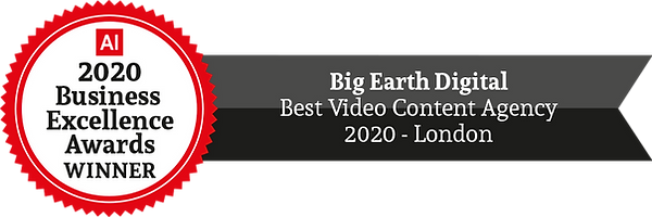 Best Video Content Agency 2020 Big Earth Digital Winners