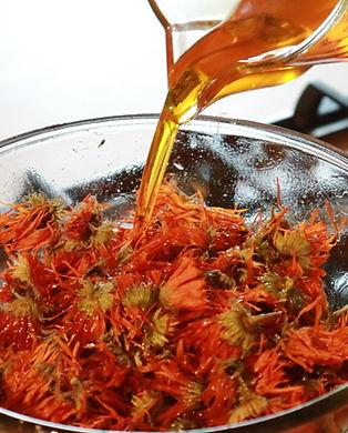 Goldenes Ringelblumenöl verdoppelte Auszug