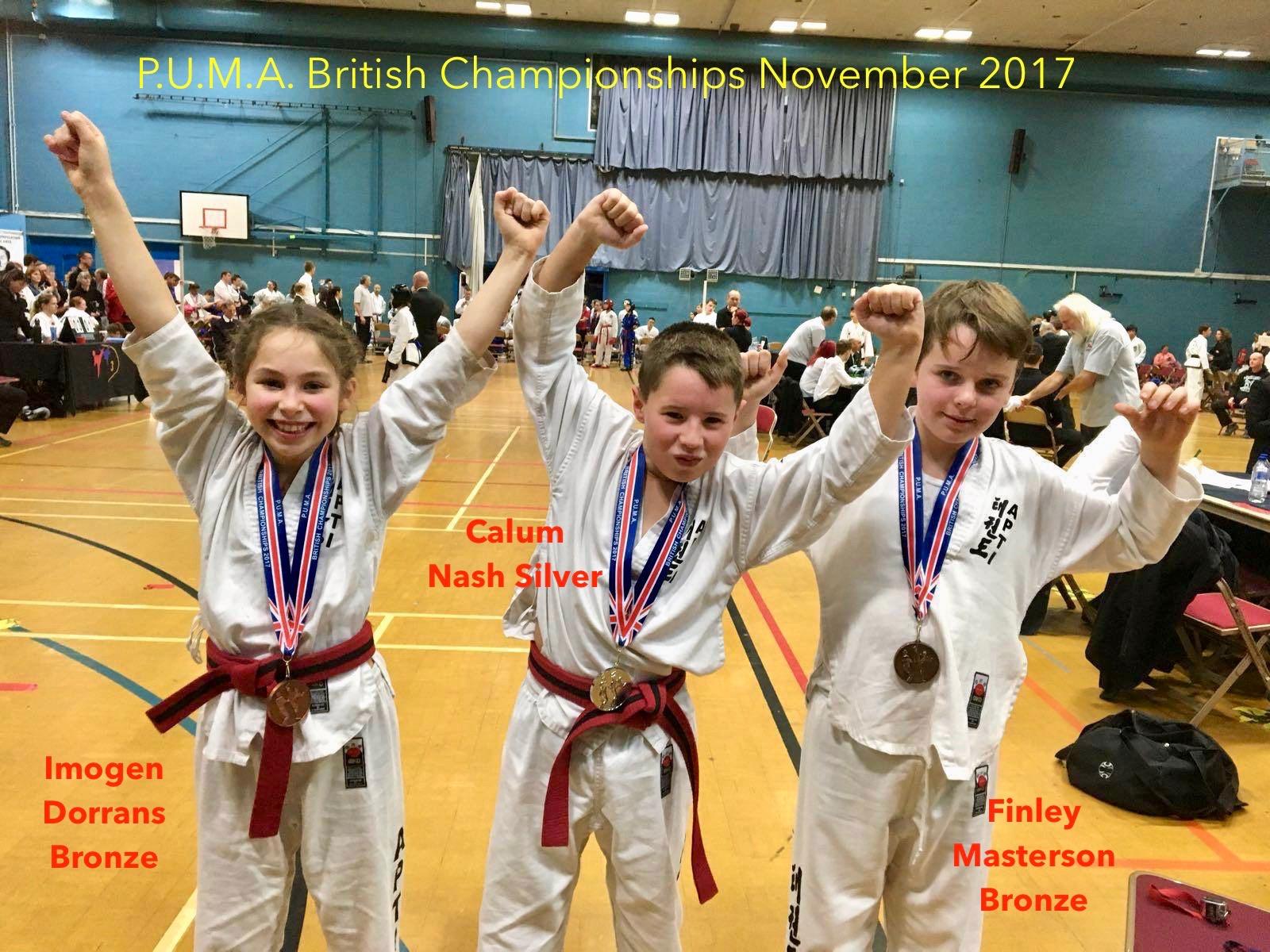 Proud medal winners!
