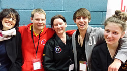 Friends at the competition