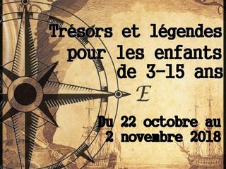 """Accueil de Loisirs du 22 Octobre au 02 Novembre 2018 sur le thème """" Trésors et légendes"""""""