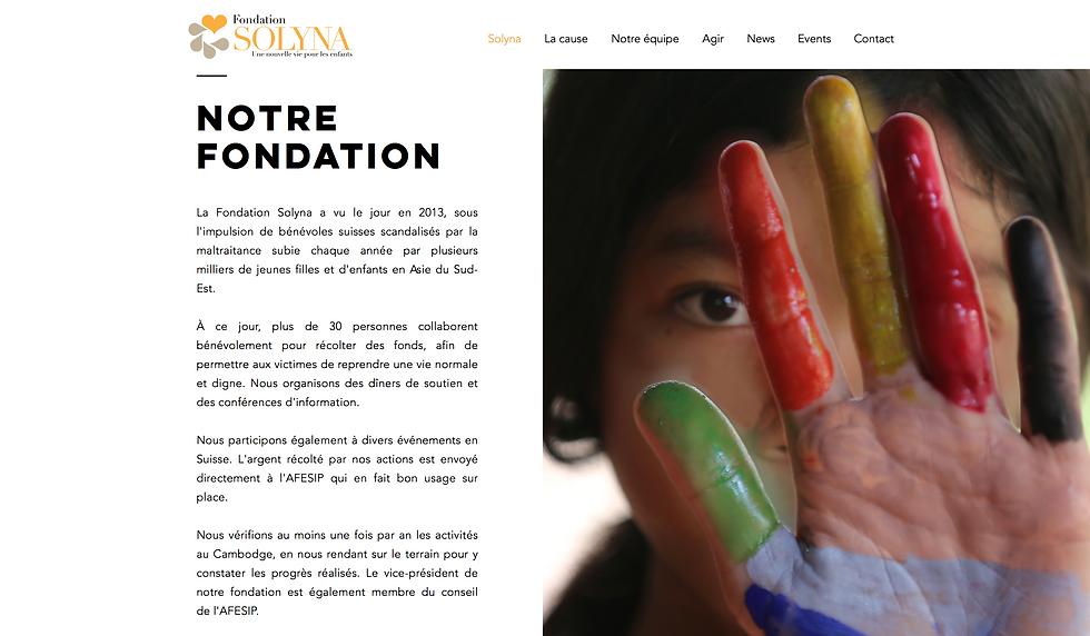 fondation solyna numéro 2 site internet