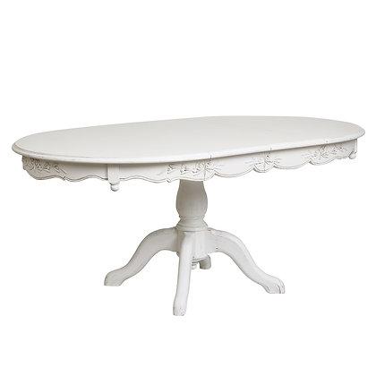白テーブル 伸長式 0121108