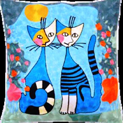 刺繍 クッション ネコ