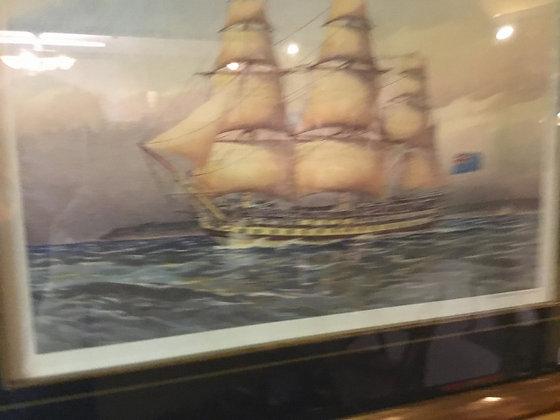 絵画 荒海 船