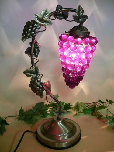 タッチランプ 葡萄 紫