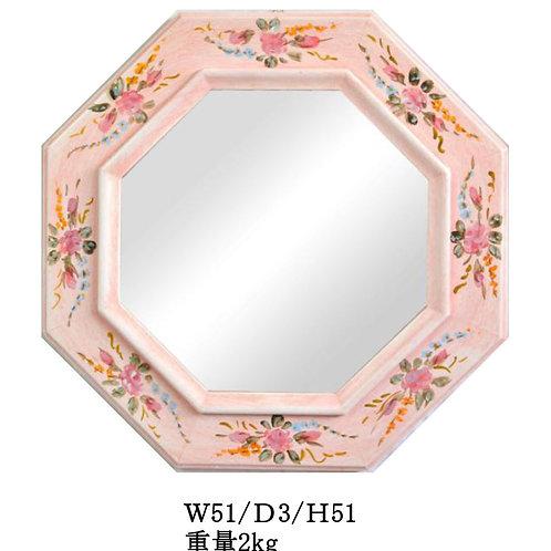 八角ミラー ピンク