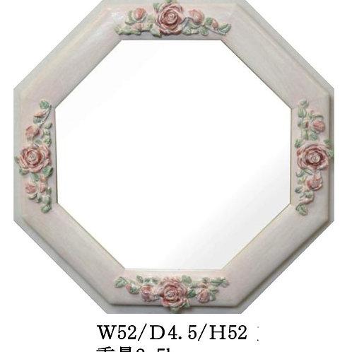 八角ミラー pink