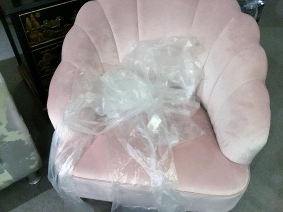 ピンクのモケット アームソファ