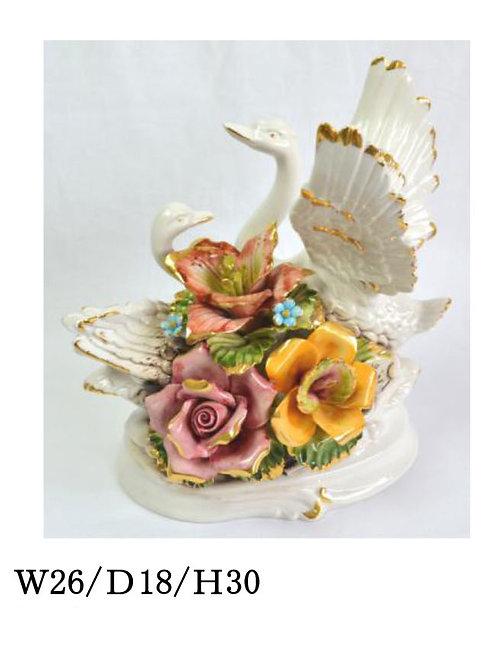 陶器の花 スワン