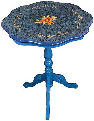 ティーテーブル 青