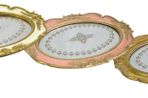 オーバルミラートレー ピンク