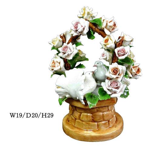 陶器の花 はと
