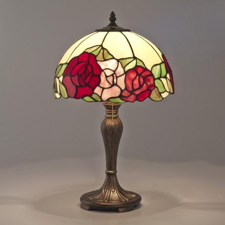 ステンドグラス スタンドランプ 薔薇