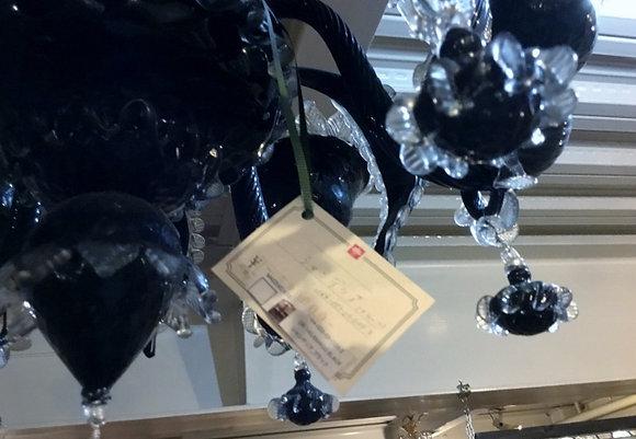 黒 大型シャンデリア1164-003