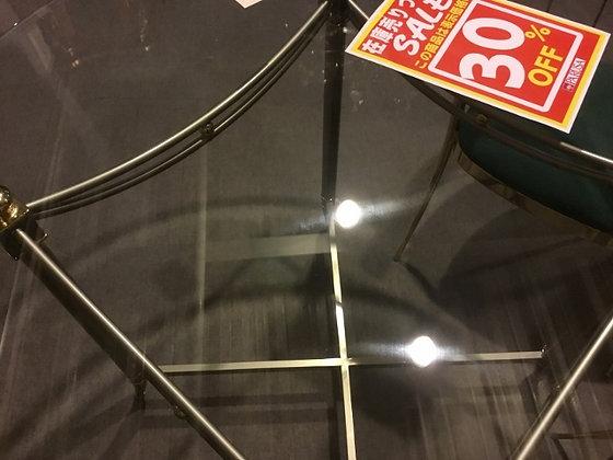 ガラスダイニングテーブル 丸
