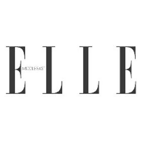 black text Elle Middle East logo on a white background
