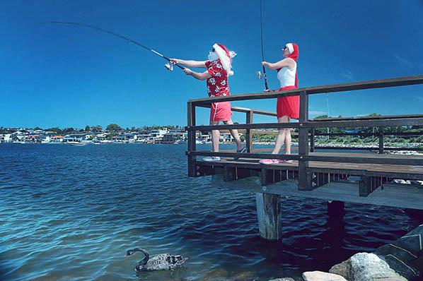 28 Santa Goes On Holiday by Aleksandra Walker