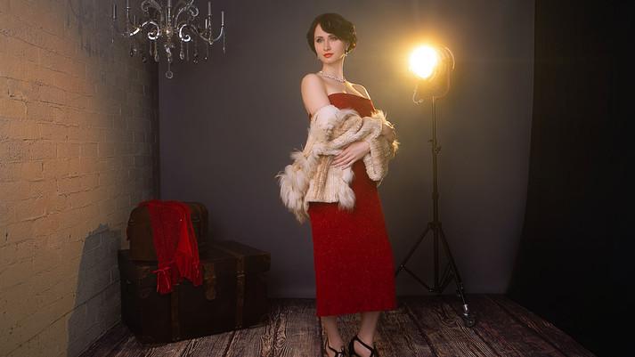 Elegant Woman Video Portrait