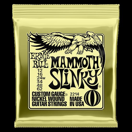 MAMMOTH SLINKY NICKEL WOUND ELECTRIC GUITAR STRINGS - 12-62 GAUGE