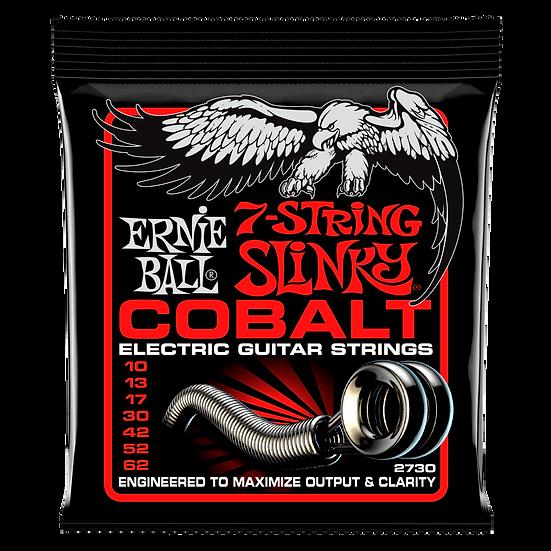 SKINNY TOP HEAVY BOTTOM SLINKY COBALT 7-STRING ELECTRIC GUITAR STRINGS - 10-62 G