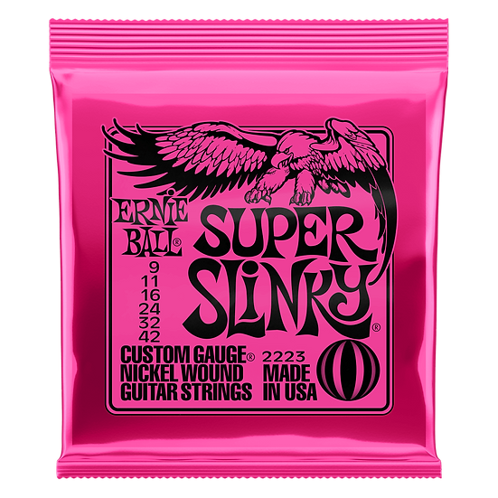 SUPER SLINKY NICKEL WOUND ELECTRIC GUITAR STRINGS - 9-42 GAUGE