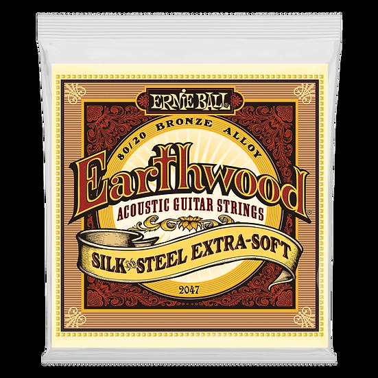 EARTHWOOD SILK & STEEL EXTRA SOFT 80/20 BRONZE ACOUSTIC GUITAR STRINGS - 10-50 G