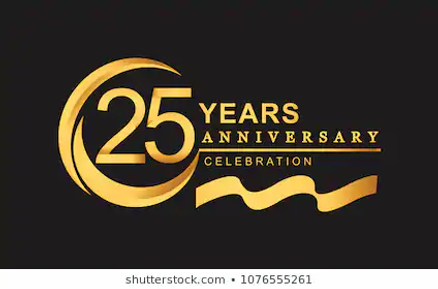 25th-anniversary-design-logotype-golden-