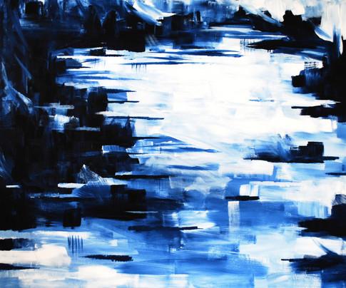 blaues Weiß