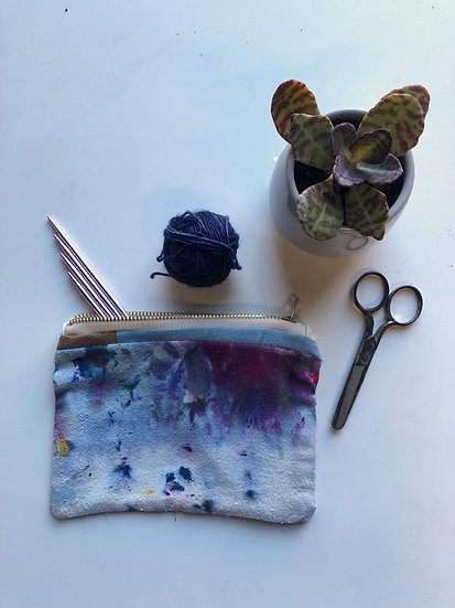 Hand dyed Zippered Pouch
