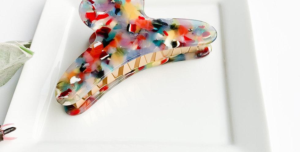 French Claw Hair Clip, Rainbow