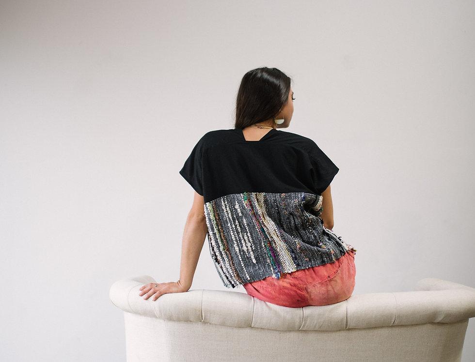 Handwoven Market Shirt, Black