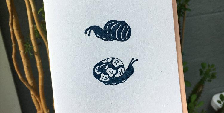Snail Buddies Note Card