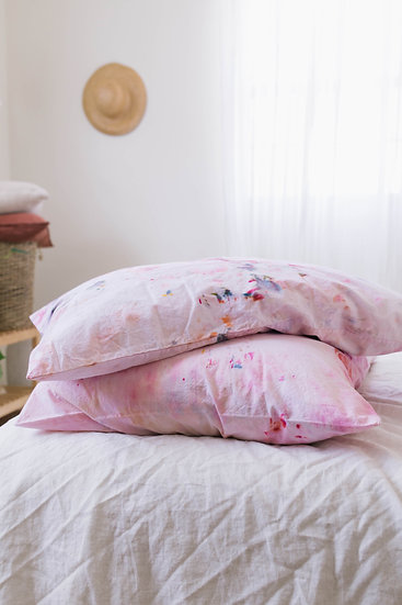 Hand Dyed Cotton Pillowcase Set