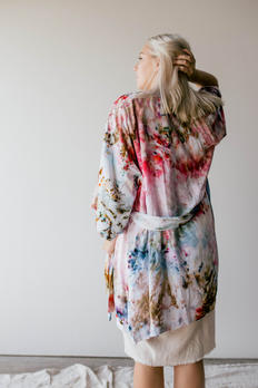 Hand dyed bamboo robe