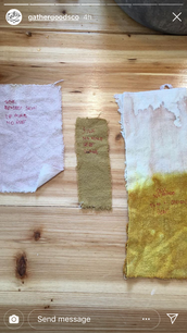 Intro to Natural Dye Class with Gather Goods