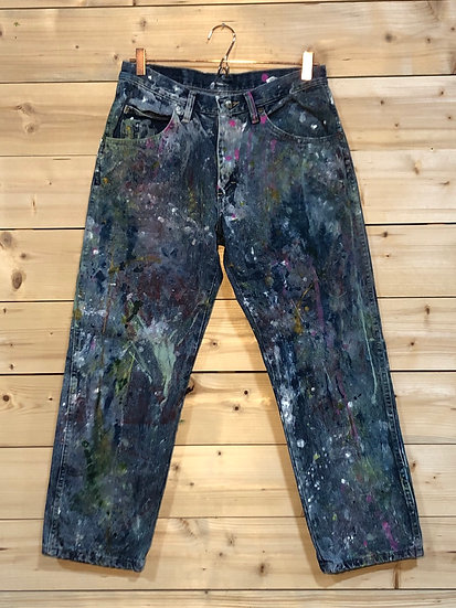 Painted Vintage Jeans, 33 x 27