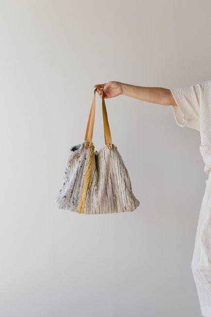 Handwoven bag study