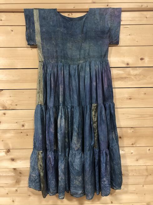 Recycled Sari Silk Dress