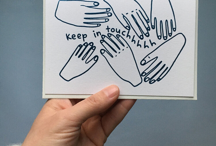 Keep in Touchhhh Note Card