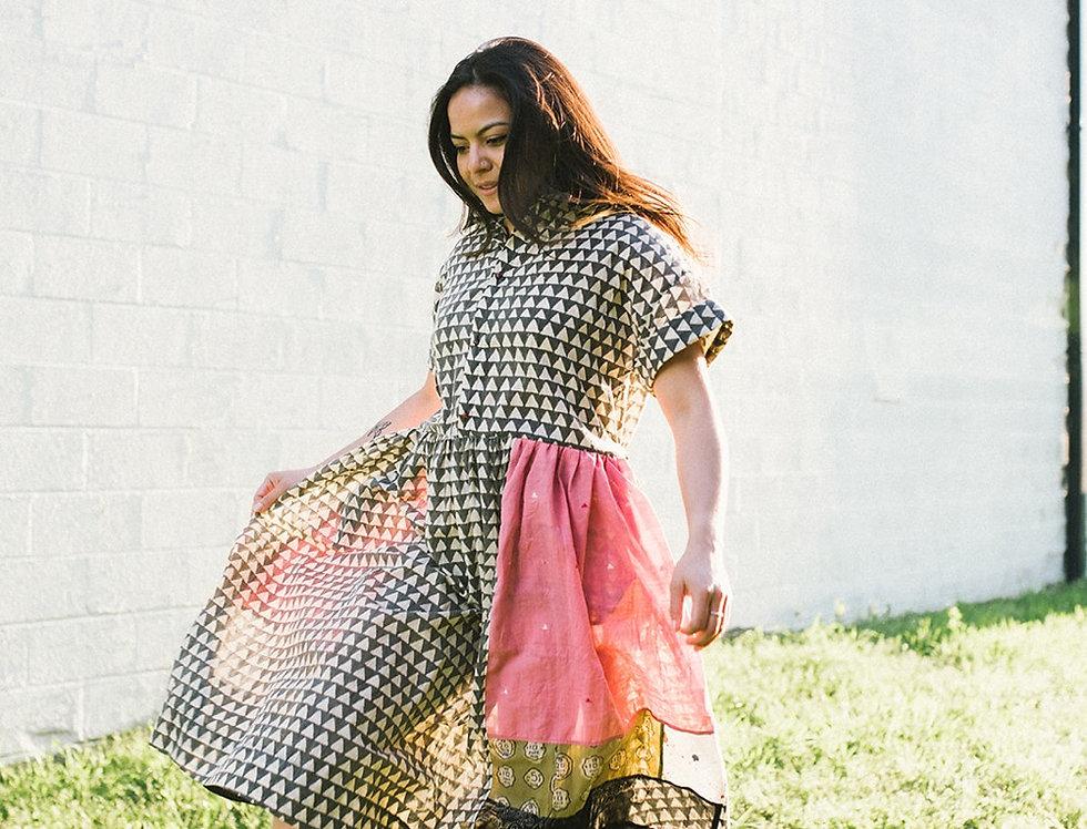 Garden Dress, Block Print