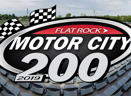 Motor City 200 Sunday from Flat Rock Speedway