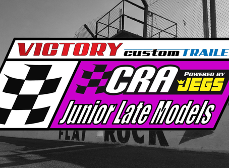 Victory Custom Trailers CRA Junior Late Model Series Inaugural Event Sunday at Flat Rock Speedway
