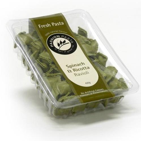 Passion Pasta Frozen Ravioli Spinach & Ricotta 420gm