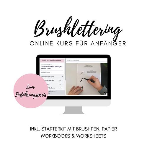 Online Brushlettering Kurs für Anfänger inkl. Starterkit