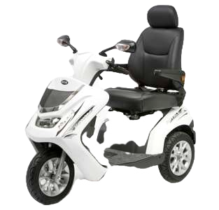 Royale 3 Wheel Scooter - White (Batteries Not Included)