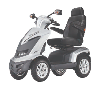 Royale 4 Wheel Scooter - White (Batteries Not Included)